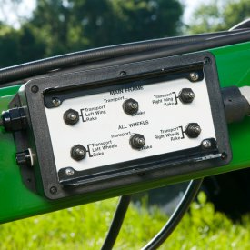 Electric control box handles all rake functions