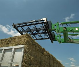 AB16 Square Bale Handler stacking bales