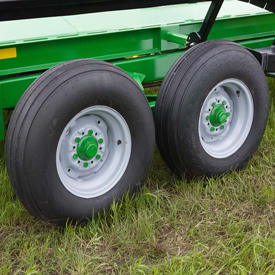 Tandem tires shown on BC1104 and BC1108