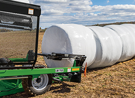 Optional bale push-off arm