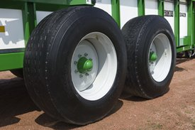 Wheels provide flotation even in soft fields