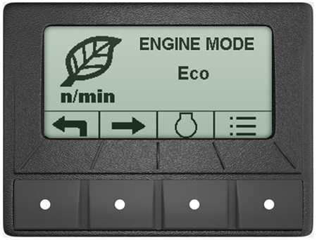 Eco mode in the TechControl display