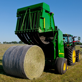 B-Wrap protects bales from rain, snow, and ground moisture
