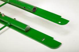 Cut-away sections of regular compressor rack vs. solid cornstalk compressor rack