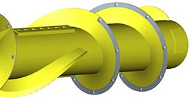 Dura Line auger flight reinforcement strips
