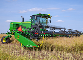 W235 Windrower with 500D Platform
