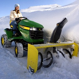 44-in. (112-cm) Snow Blower on X324 Tractor