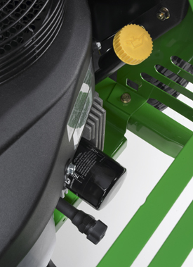 Engine oil service features