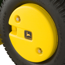 50-lb (22.7-kg) plastic-shell rear wheel weight