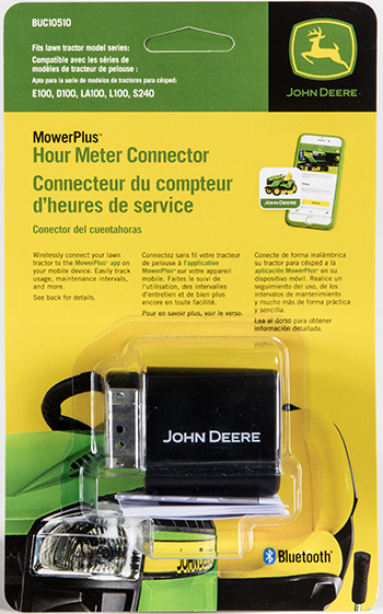MowerPlus hour meter connector packaging
