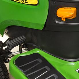 Brake pedal and parking brake control