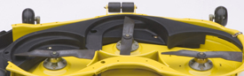 Mulching attachment shown on X500 Tractor mower