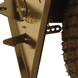 Adjustable hopper latch