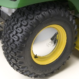 Rear HDAP tire (optional wheel cover shown)