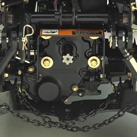 540-rpm rear PTO drive