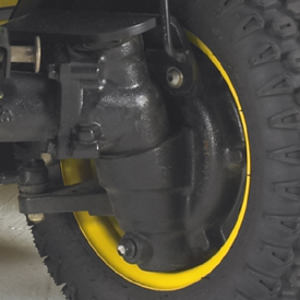Front-wheel drop-axle