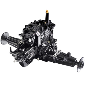Two-wheel steer hydrostatic transaxle