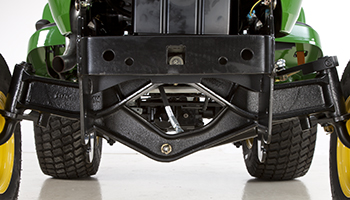 Heavy-duty cast-iron front axle (2WD shown)