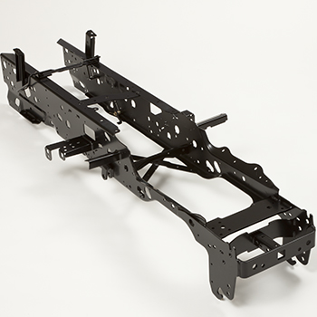 Full-length welded steel frame