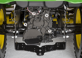 X758 two-wheel steer transaxle shown