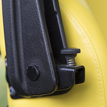 Armrest angle adjustment knob
