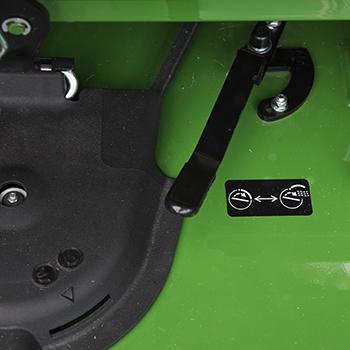 MulchControl handle in closed position