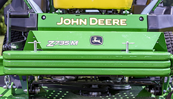 Front weights installed on a Z735M with a 54-in. (137-cm) Mower Deck