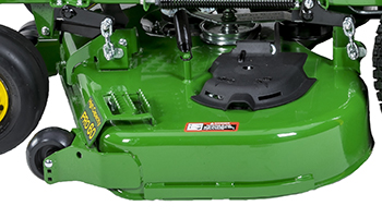 Deep-deck mower design