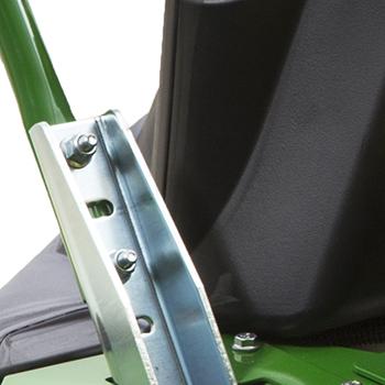 Steering lever adjustments, high position