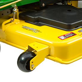 Reinforced mower edge for durability