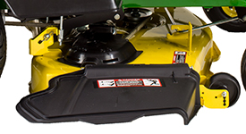 Right side of Accel Deep 48A Mower Deck