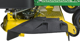 Side-discharge chute on Accel Deep 42A Mower Deck