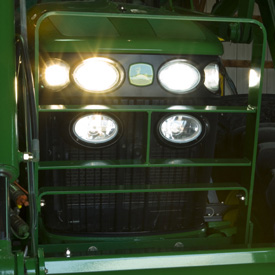 Hood guard on 7730 MFWD Tractor
