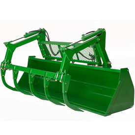 Heavy-duty bucket (2750 mm shown with grapple)