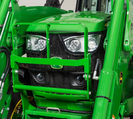 Hood guard on 6155M Tractor