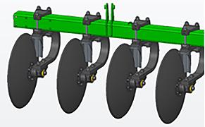 Individual C-Spring blade stops