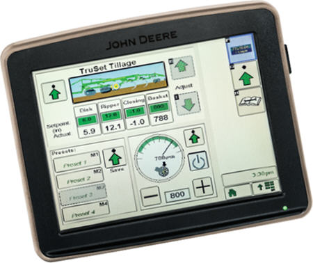 TruSet on a GreenStar™ 3 2630 display