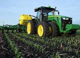 15-row side-dress in corn