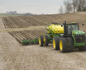 12-row Residue Master in soybean stubble