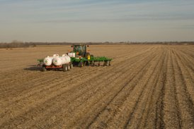Fall application in soybean stubble