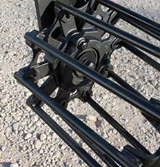 Hydraulic round-bar rolling basket harrow
