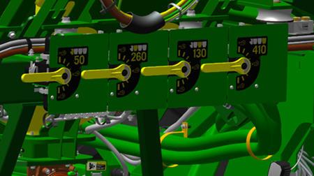 Tank pressure adjustment handles