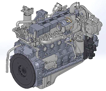 Tier 3 diesel engine