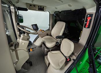 Cab interior looking in from the door