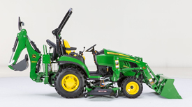 Implement compounding (2025R Tractor shown)