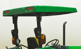Standard canopy mounted to 5M Series ROPS
