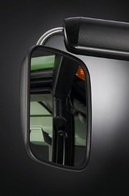 Electronically-adjustable mirrors shown