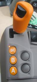 DirectDrive speed lever in full auto mode