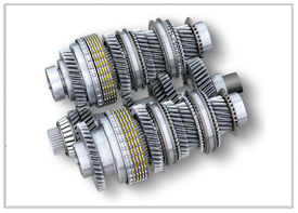 Dual-path module powershift gears