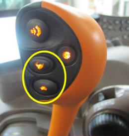 Gear shifting on transmission lever